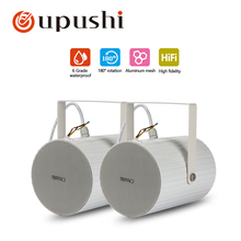 Outdoor wall speakers 10w waterproof loudspeaker oupushi 2-way oupushi public address system speakers with amplifier, microphone