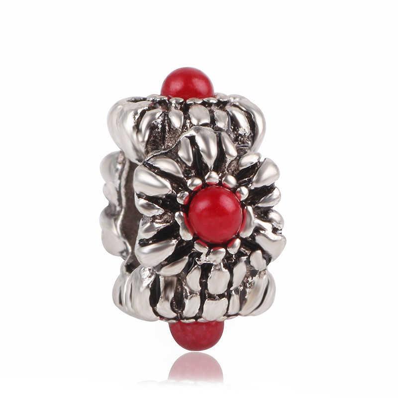 Ranqin 2019 oryginalny Bloom zwierząt koralik kryształowa emalia urok wisiorek Fit kobiety bransoletka pandora bransoletki DIY Charms