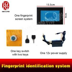 Image 4 - Parmak izi tarayıcı prop kaçış odası bulmaca akıllı ekran parmak İzi tanıma sistemi tarama parmak izi kilidini JXKJ1987
