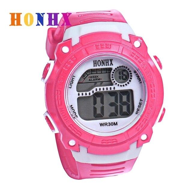 HONHX Children Watch Waterproof Digital LED Quartz WristWatch Jelly Kids Clocks
