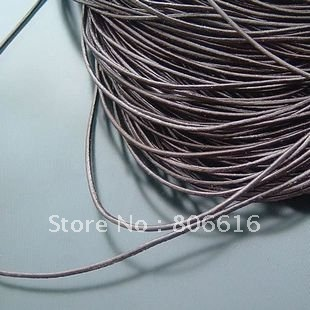 1MM 100Yards Dark Brown Color High Grade Round 100% Genuine Leather Ropes Cord Line Wire Jewelry Findings