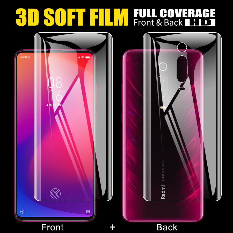 Front + Back Soft TPU Screen Protector Film For Xiaomi Mi 9T A2 lite POCO <font><b>Pocophone</b></font> <font><b>F1</b></font> Redmi K20 Note 7 5 6 Pro Hydrogel <font><b>Sticker</b></font> image