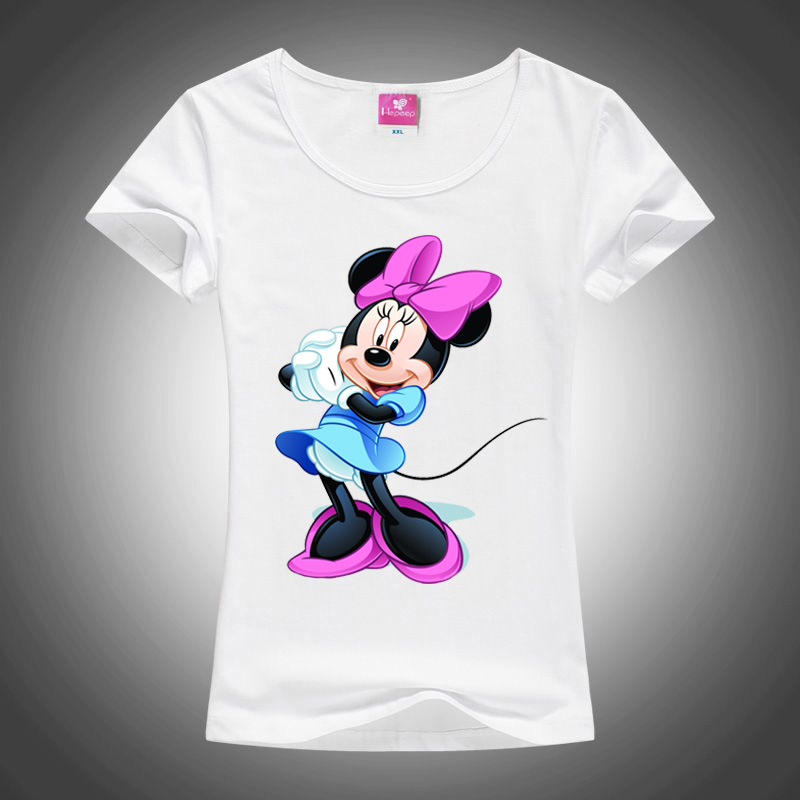 New Anime Cartoon Captain America Cute Mouse T-shirt Women Funny Game Of Money Donald Duck Tshirt Female Plus Size T-shirt