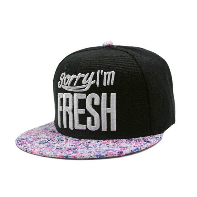 New Men Women Baseball Hip Hop Cap Adjustable Fresh Snapback Embroidered Trucker  Hat Black c4d560c8184c