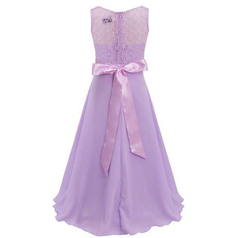 Summer Girls Dress Chiffon Sleeveless Infant Long Dress O Neck Girl Wedding Dresses Lace Kids Party Clothes Children Clothing (6)