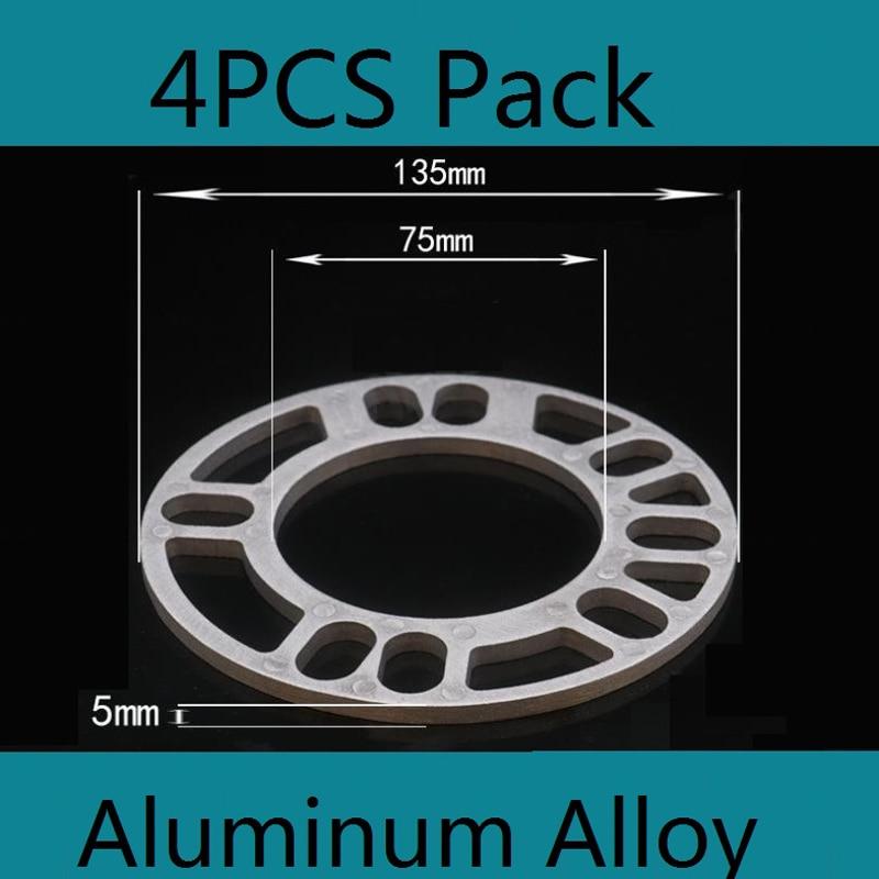 4PCs Universel Voiture Roue Alliage Entretoises Cales 4 et 5 rivets pour Škoda * 5 MM+3 mm