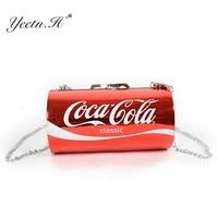 Yeetn H New Handbag Box Shape Shoulder Bag Diagonal Chain Fashion Messenger Coke Rock Pack Funny