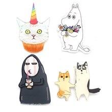 Bag Collar Tip Punk Jewelry Cheap Lapel Pin China Acrylic Cute Cartoon Characters Badge HARAJUKU Broochs Women Men Brooch BR0009
