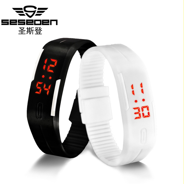 Fashion Sport LED Watches men Candy Color Silicone Rubber Touch Screen Digital Watches women Waterproof Bracelet Wristwatch