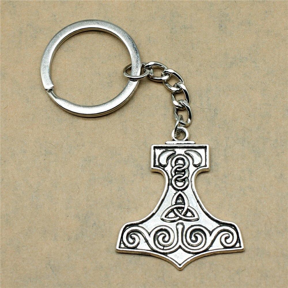 1 Stück Auto Keychain Boot Form Triquetra Symbol Geburtstag Partei Liefert Neue Jahr Geschenke 40x34mm Anhänger Antike Silber Eine Hohe Bewunderung Gewinnen