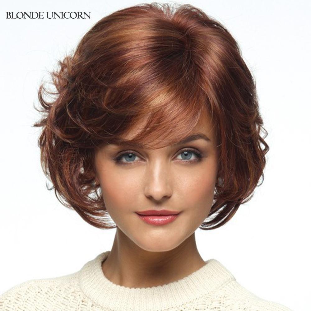 Blonde Unicorn Lob Wigs Short Human Hair Wigs For Women