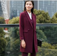 Women fashion suit three piece set pant blazer and vest OL women business office work wear clothes set