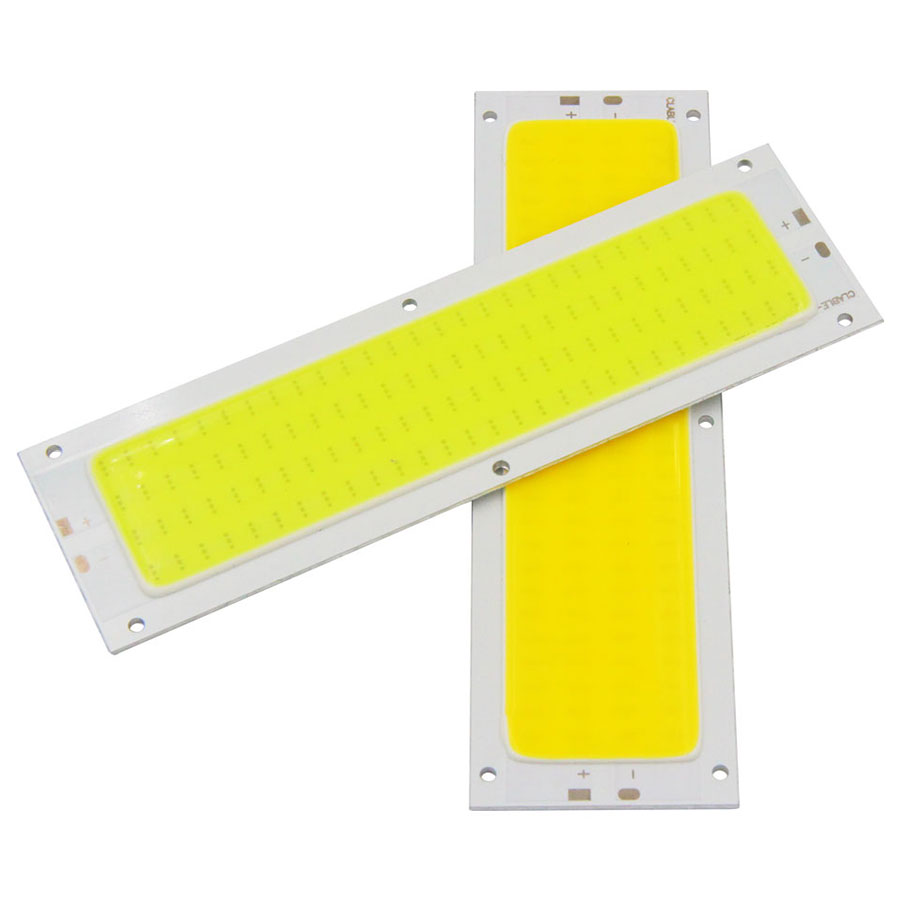 120x36mm 12V COB LED Light Source Chip 12W Bulb For DIY Car Lighting Warm Nature Cool White Blue Panel Lamp 1000LM Waterproof