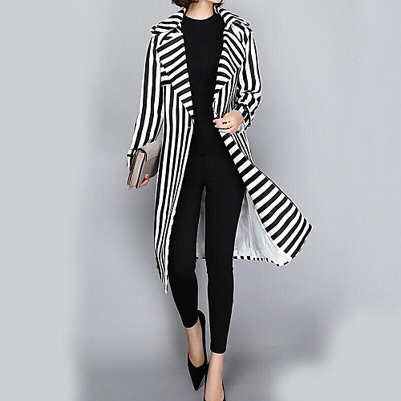 New 2018 Autumn Winter Women Ladies Fitting   Basic     Jacket   Boyfriend   Jacket   Feminina Windbreak Oversized Slim Solid Long Coat //
