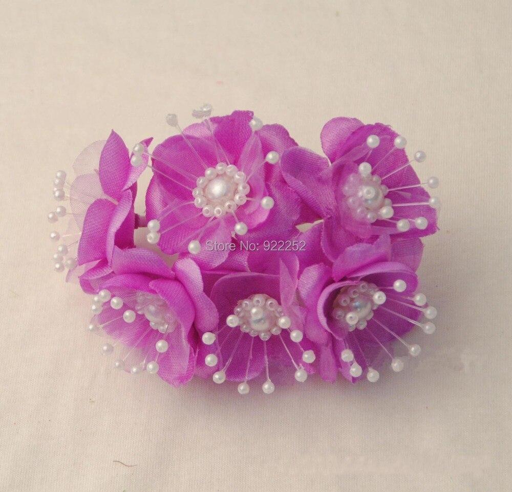 4-4.5CM artificial small fabric rosas wtih beads,diy craft arrangement wrist corsage,boutonniere,bridal bouquets, garland hair