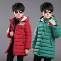 Simple design children boy warm russian japanese winter clothes canada long style winter lightweight boys quilted trench coat
