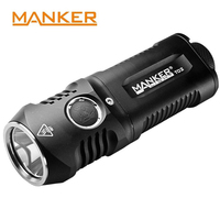 Manker T02 1500 lumens Pocket Torch CREE XHP35 LED Flashlight Use 2x AA / 2x 14500 Batteries for Camping Gear Outdoor Lamp