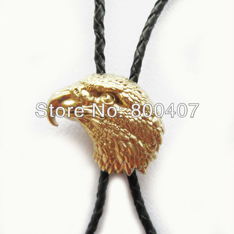 Retail Real Gold Plating Eagle Head Bolo Tie BoloTie BOLOTIE-WT136GD Brand New In Stock Free Shipping Pakistan