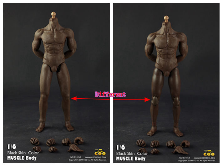 COO 1/ 6 scale muscular black skin action figures Boby for 12 dolls DIY Accessories , Semi-finished Product soldier