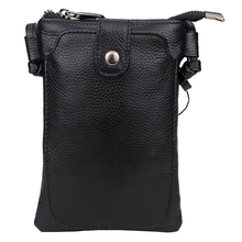 New Arrivals Premium Genuine Leather Small Mobile Phone Bags Hot Fashion Style Multi-function Ladies Messenger Female
