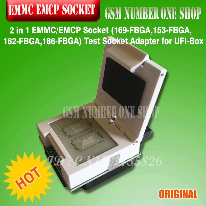 NEW ORIGINAL 2 in 1 EMMC EMCP Socket 169 FBGA 153 FBGA 162 FBGA 186 FBGA