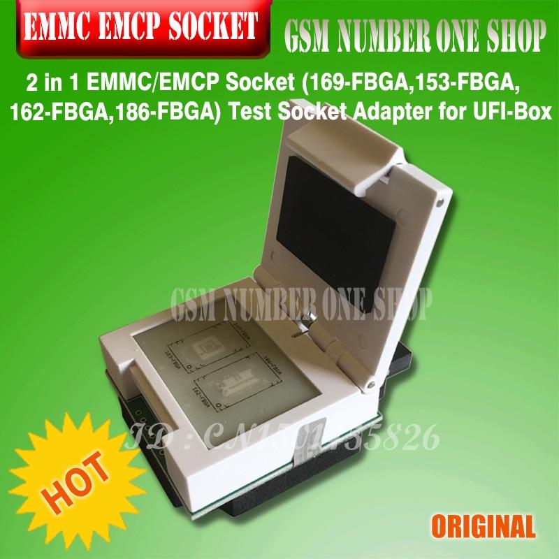 NEW ORIGINAL 2 In 1 EMMC / EMCP Socket (169-FBGA,153-FBGA,162-FBGA,186-FBGA) Test Socket Adapter For UFI-Box