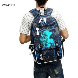 Image 4 - Cartoon Japan Anime One Piece Luminous Backpack Fashion Monkey D Luffy Cosplay Student Large Capacity Schoolbag Bagpack Mochila