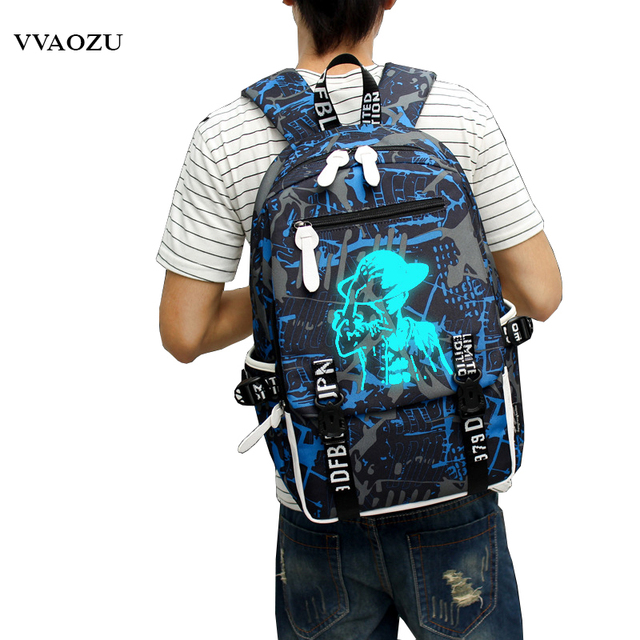 One Piece Monkey D Luffy Luminous Backpack