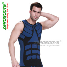 ZEROBODYS Men's Shapers Slimming T Shirt Multi-color Quick Dry Underwear Vest Male Indoor Body Shaper Compression Three Colors