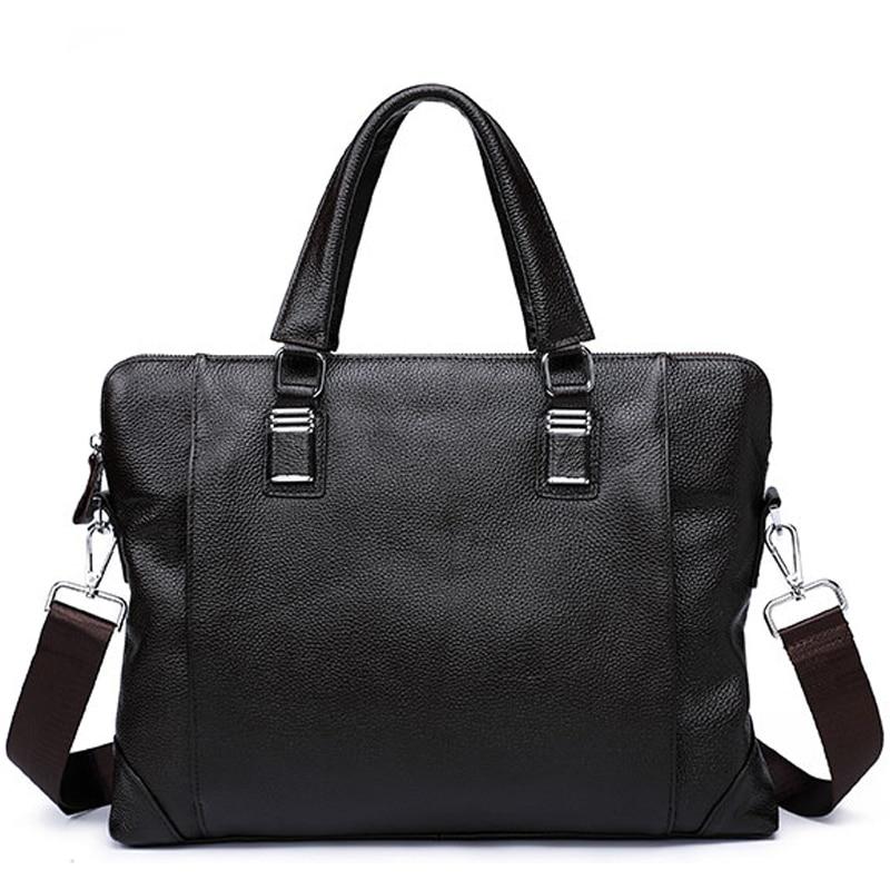 Genuine Leather Men Briefcase Business Bag Fashion Shoulder Messenger Bags Computer Laptop Bag Handbags Men's Bag For Document 2015 genuine leather handbags men s messenger bag leisure business computer bag drop shipping