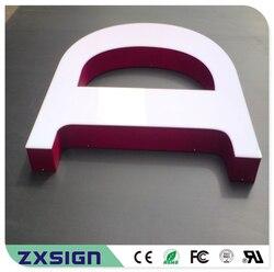 Letreros led de acrílico para exteriores de venta de fábrica, letras de canal LED reverso de acrílico