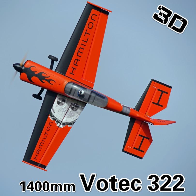 FMS 1400 мм Votec 322 V322 аэробический 3D Летающий радиоуправляемый самолет, изготовленный из прочной пены EPO