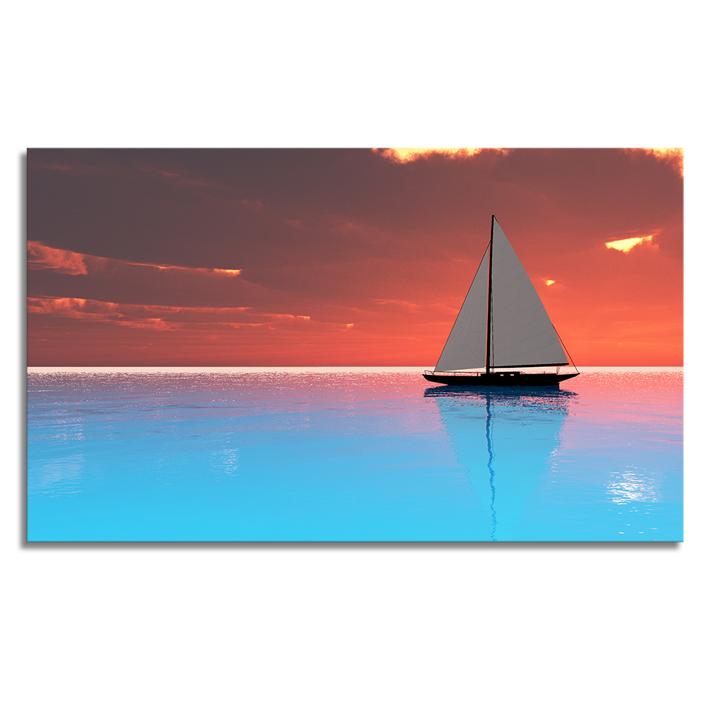 Abstract Canvas Art Prints HD Canvas Printing Living Room Decoration Sailing Boat Giclee Print on Canvas Unframed (60cmx100cm)