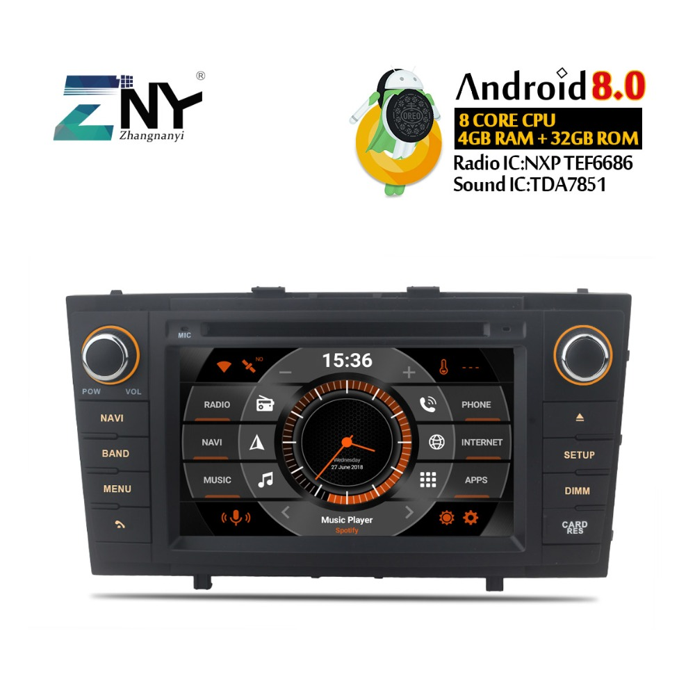 4 GB 7 IPS Affichage Android 8.0 Voiture GPS Stéréo Pour Toyota Avensis T27 2009 2010 2011 2012 2013 2014 2015 Radio DVD navigation gps