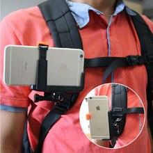Sgancio rapido Cinghia Dello Zaino Cappello Clip Adattatore di Montaggio per Sony AS50 AS300R AZ1 X3000R/Gopro 7 5/SJcam /Xiaoyi 4 k per il iphone huawei