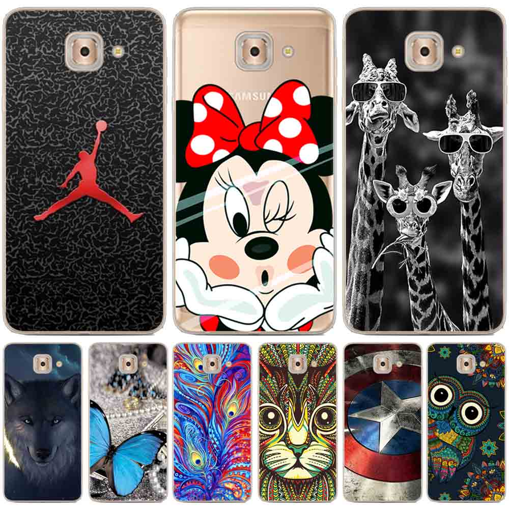 26648c814f8 Cool Silicon cover for Samsung Galaxy J7 Max case soft TPU painted cartoon  case for Samsung