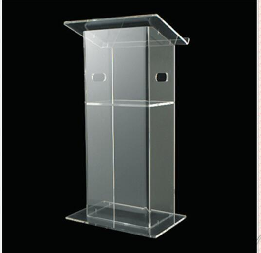 Купить с кэшбэком Clear Acrylic Lecterns Church Pulpit Conference Podiums Speech Lectern Clear Church Podium Crystal Pulpit Clear Acrylic Lecterns