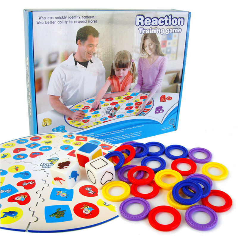 Reaction Training Education Board Game for Family/Party/Friends Funny Learning Game Best Gift for Children English Version