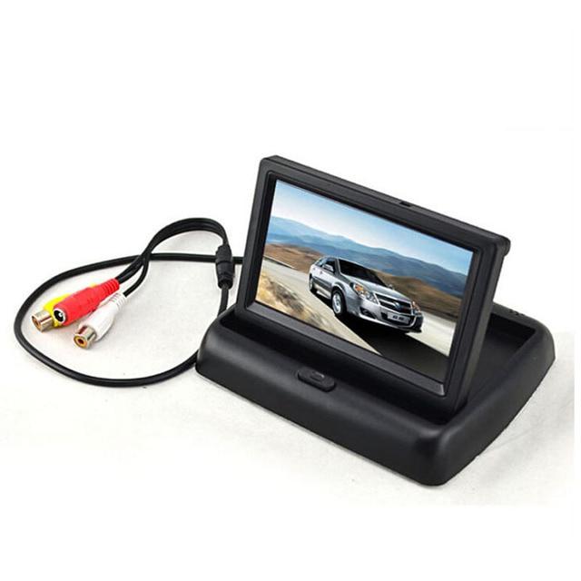 100% New Brand Mini Car DVR Full HD 4.3'' TFT LCD Monitor+Car Rear View CCD HD Camera for Car DVD GPS Astern Car DVR tm