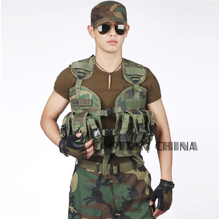 Seal Men Tactical Vest Combat Wargame CS Military 600D Nylon Jacket Camouflage Waterproof Water Bag Pouches
