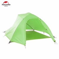 Naturehike Tent 20D Silicone Fabric Ultralight 3 Person Double Layers Aluminum Rod Camping Tent 4 Season