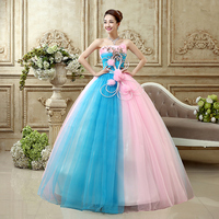 Bow Ball Gown Quinceanera Dresses With Sleeveless Cheap In Stock Party Gown Flowers Organza Dresses Vestidos De 15 Anos