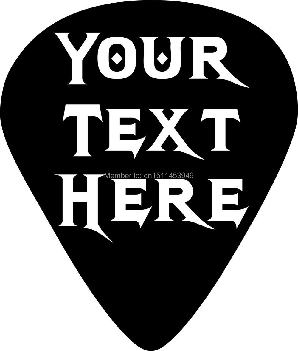 Custom Personalized Music Guitar Pick CAR WINDOW STICKER VINYL - Custom vinyl decals for guitars