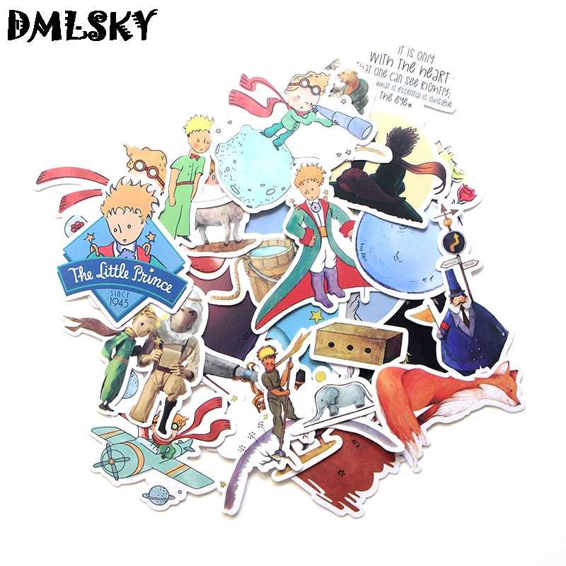 23 Pcs/set DMLSKY Little Prince Cartoon PVC Scrapbooking for Car Luggage Laptop Decal Home Bedroom Diy Decoration M3118