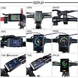 Image 4 - Bafangフロントハブモーター 48v 500 ワットの電子自転車変換キットのための 20 26 27.5 28 700Cホイールディスクのvブレーキ電動自転車diy G020.500