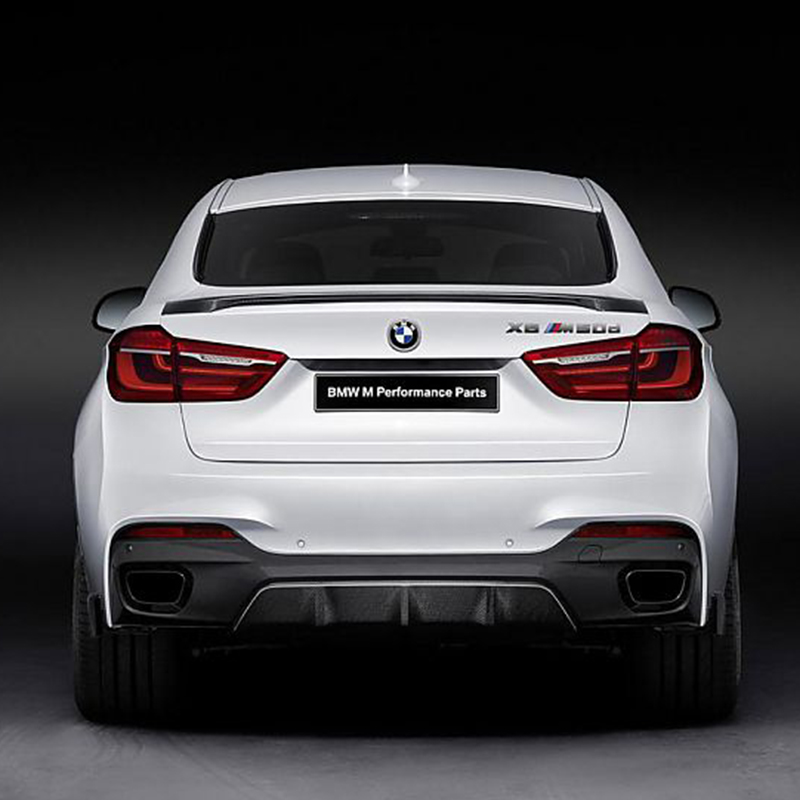 F16 X6 Modified M-Perform Style Carbon Fiber Belakang Luggage Compartment Spoiler Wing Kereta Untuk BMW X6 F16 2014 2015 2016