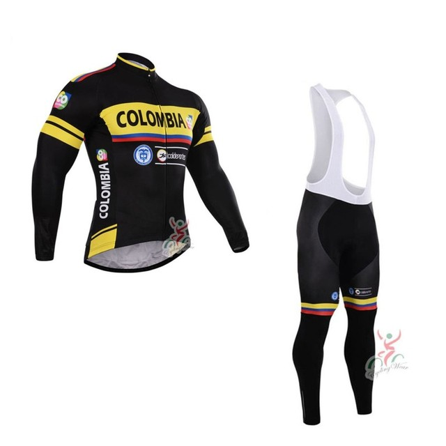 spring autumn pro team colombia mens long sleeves Cycling jerseys  breathable bike clothing MTB Ropa Ciclismo Bicycle maillot 39aa76b45