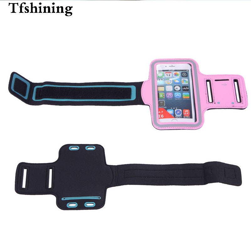 Tfshining Sport Arm Band Bags phone cases cover For apple iPhone 6 6S Plus 7 8Plus Running Gym Mobile Phone pouch Fundas Capa