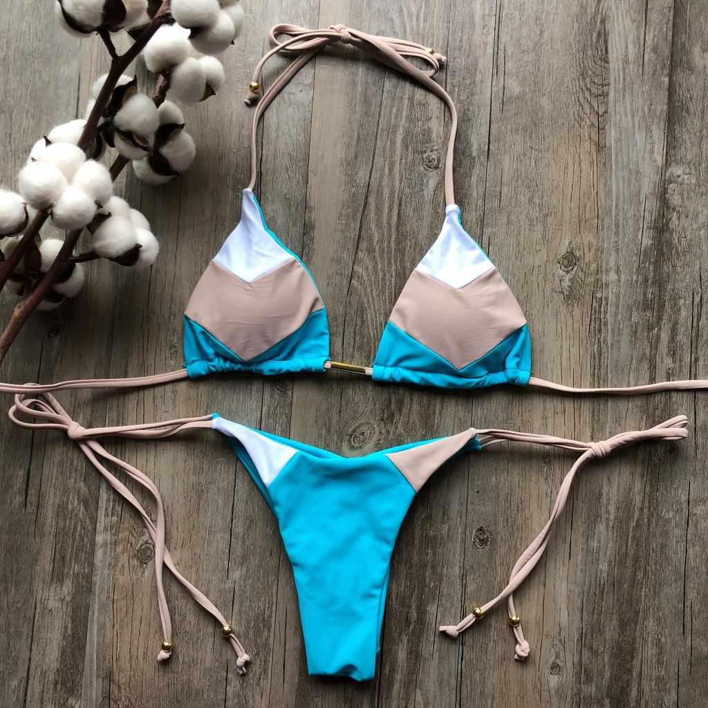 2019 Пасха 3,28 Feshion женские сексуальные бикини вся женщина костюм комплект горячая штамп спорт купальник пуш-ап Мягкий купальник