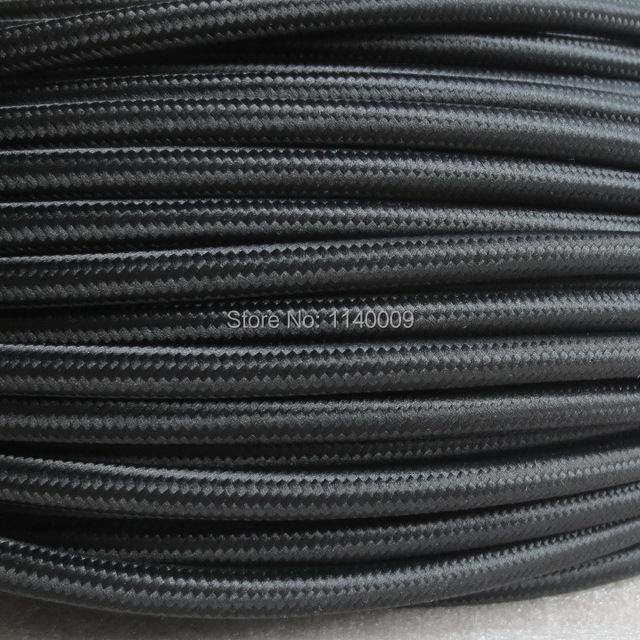 50m/lot DHL Free Shipping 2x0.75mm2 Textile Electrical Wire Color ...
